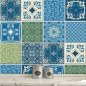Preview: PATCHWORK LISSABON BLAUGRUEN- FLIESENAUFKLEBER SET 02
