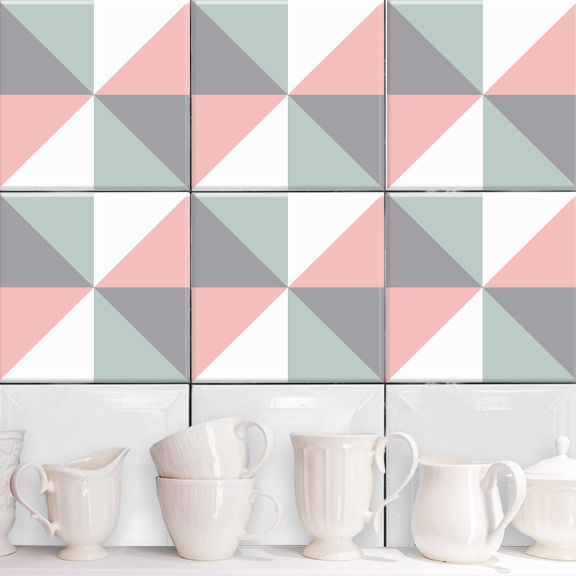 stockholm rosa grau fliesenaufkleber set wand akzente. Black Bedroom Furniture Sets. Home Design Ideas